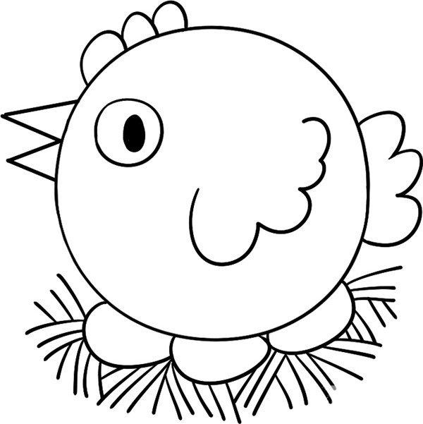 学画画 儿童画教程 简笔画 > 趣味简笔画:孵蛋的母鸡绘画步骤(4)