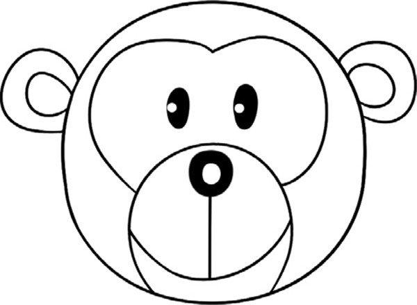趣味简笔画:圆脸的猴子绘画步骤四