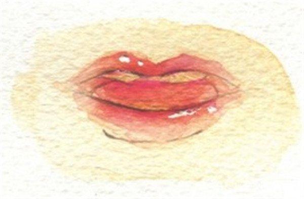 学画画 水粉画教程 水粉画技法 > 水彩画出各种表情的嘴巴绘画步骤(3)