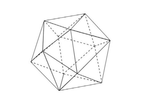 其每一个面是一个等边三角形.