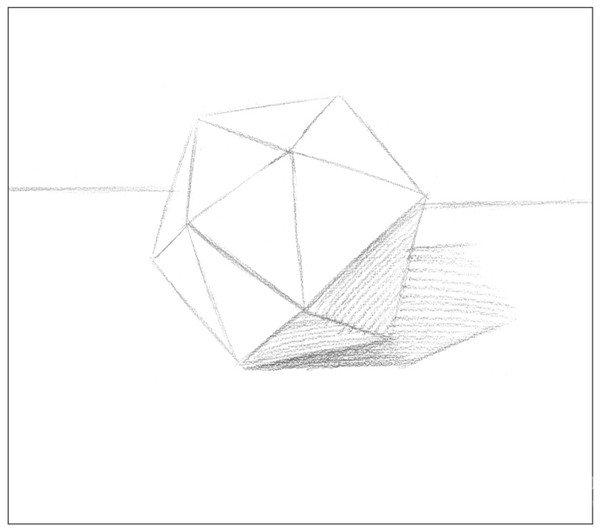 素描二十面体绘画步骤3