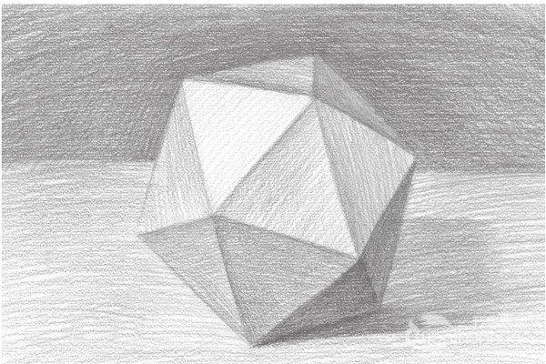 素描:斜面圆柱绘画技巧_素描教程_学画画_我爱画画网-然而素描是绘图片