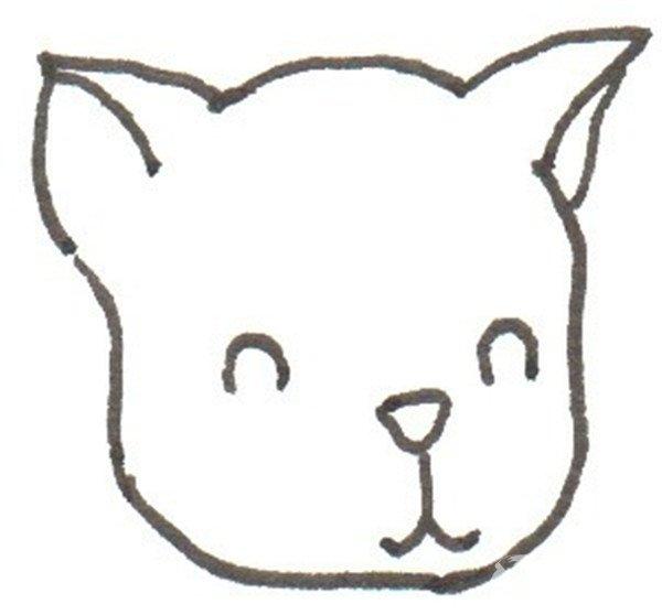 卡通画:茶杯犬的绘画步骤