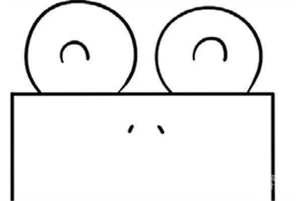 趣味简笔画:欢乐的青蛙绘画步骤