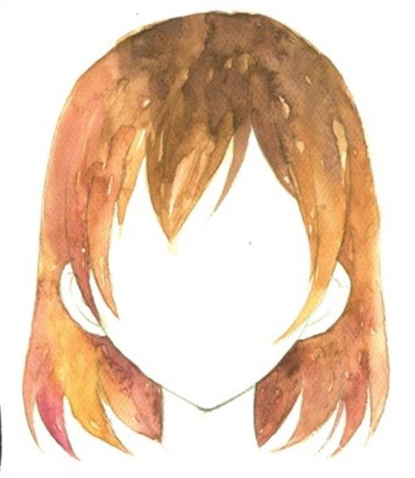 学画画 水彩画教程 水彩画技法 > 水彩技巧:给人物绘制合适的发型绘制