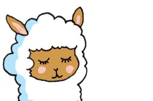 卡通画:羊驼的绘画步骤