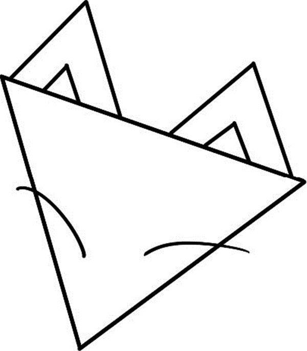 趣味简笔画:狡猾的狐狸绘画步骤(2)