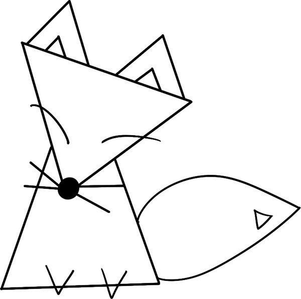 趣味简笔画:狡猾的狐狸绘画步骤(4)