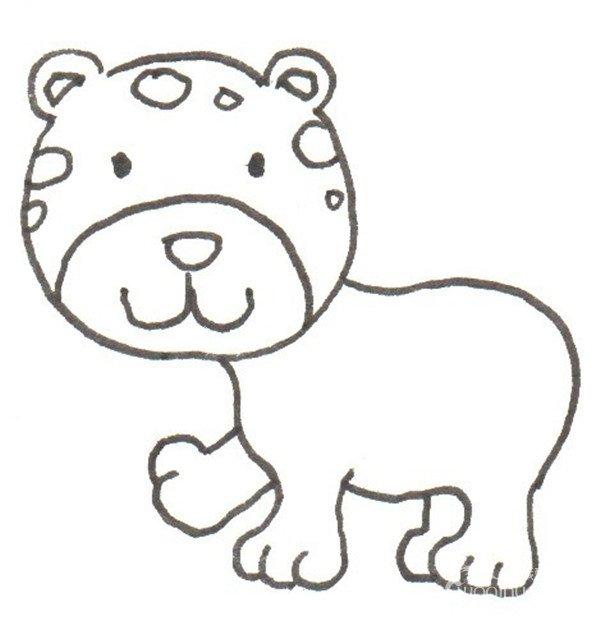 卡通画:豹子的绘画步骤(3)