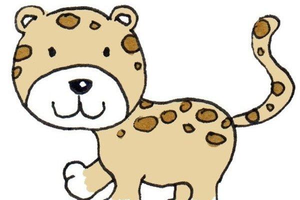 卡通画:豹子的绘画步骤