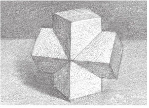 素描 十字贯穿体绘画技巧图片