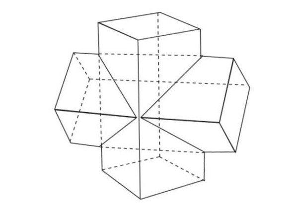 学画画 素描教程 素描石膏像 > 素描:十字贯穿体绘画技巧      长方体