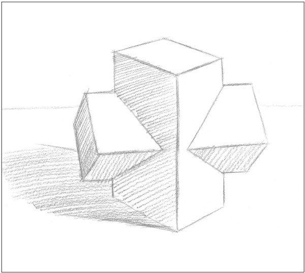素描:十字贯穿体绘画技巧(6)