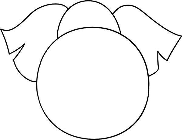 大大耳朵 趣味简笔画:庞大的大象绘画步骤三                      3