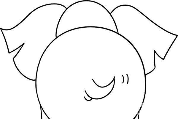 趣味简笔画:庞大的大象绘画步骤