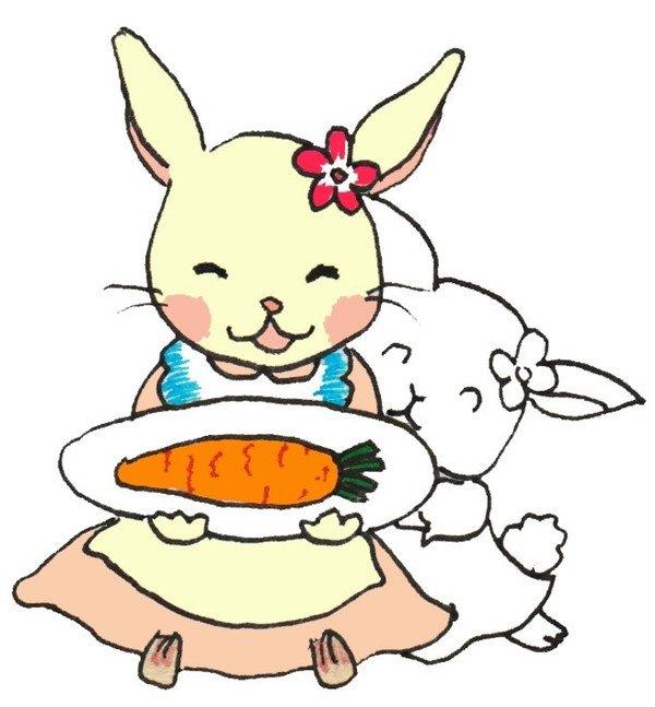 卡通画:小白兔的绘画教程(3)