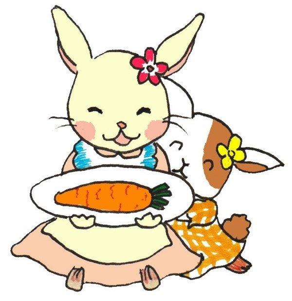 卡通画小白兔的绘画步骤七