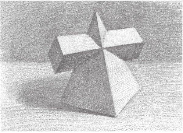 素描 棱锥贯穿体绘画技巧图片