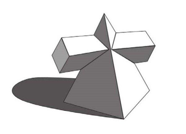 素描:棱锥贯穿体绘画技巧