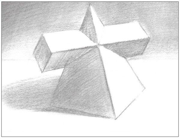 素描:棱锥贯穿体绘画技巧(2)
