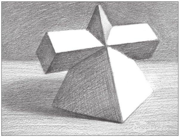 素描:棱锥贯穿体绘画技巧(4)