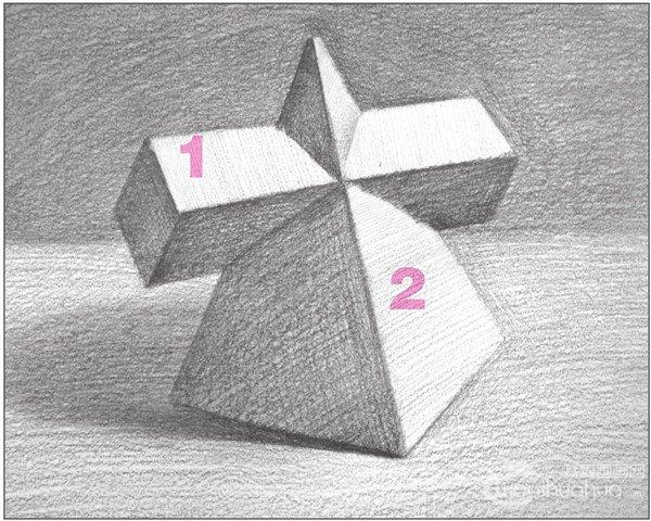 素描:棱锥贯穿体绘画技巧(5)