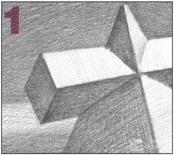 素描棱锥贯穿体绘画步骤13-1-素描 棱锥贯穿体绘画技巧 5图片
