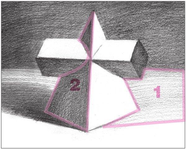 素描棱锥贯穿体绘画步骤13