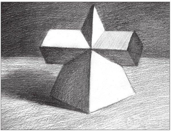 素描棱锥贯穿体绘画步骤14-素描 棱锥贯穿体绘画技巧 10图片