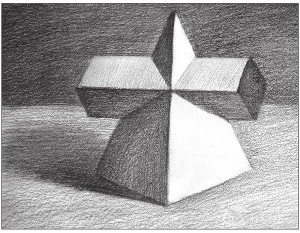 素描:棱锥贯穿体绘画技巧(10)
