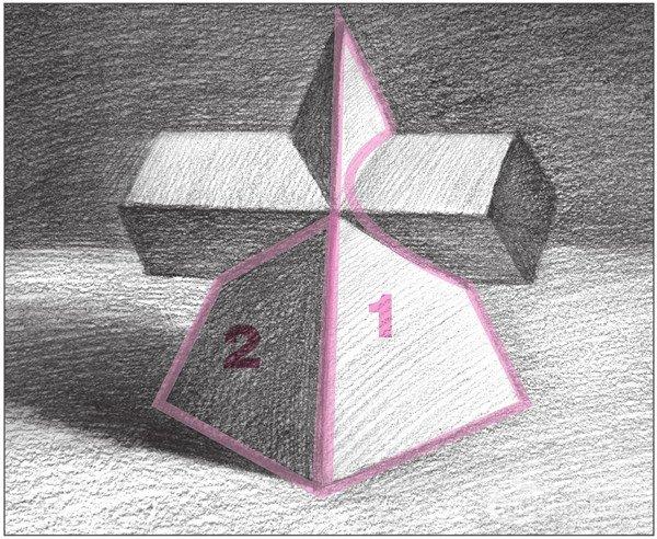 素描:棱锥贯穿体绘画技巧(11)
