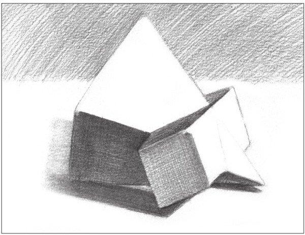 素描棱锥贯穿体绘画步骤8