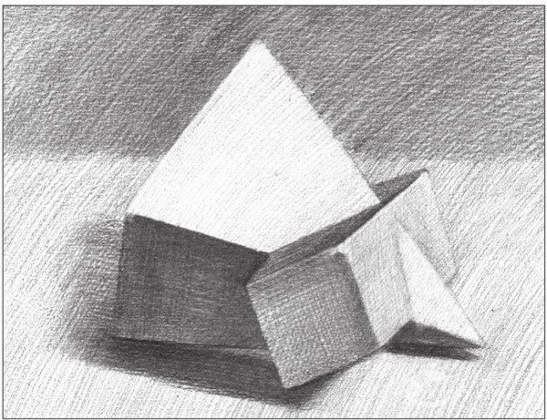 素描棱锥贯穿体绘画步骤12