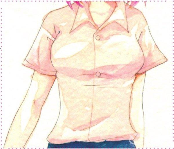 在绘制服装时,要根据人物的身体结构等多种因素来绘制褶皱.
