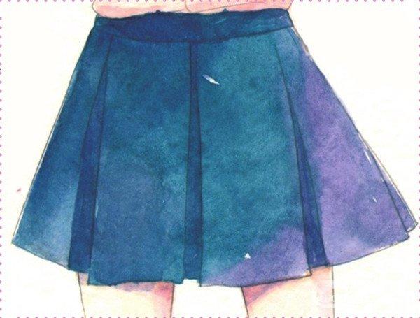 动漫裙子褶皱素材