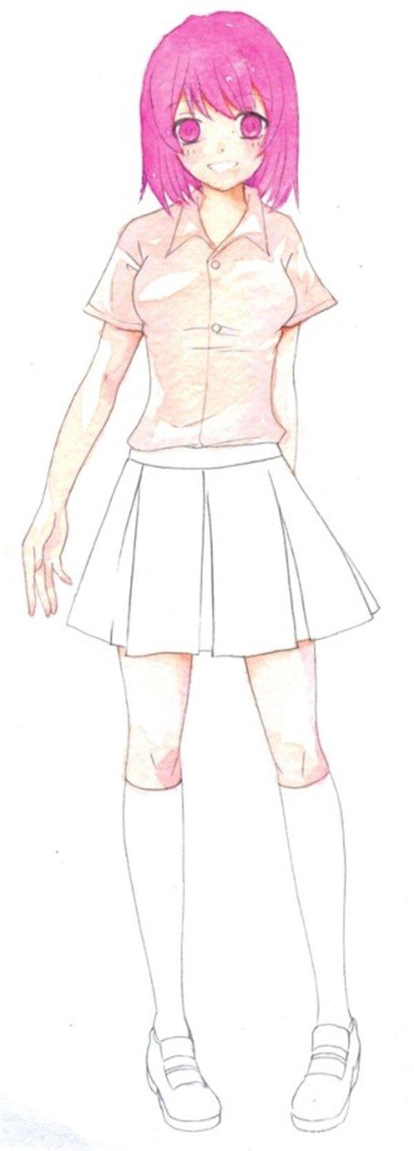 水彩人物衣服的绘画步骤四