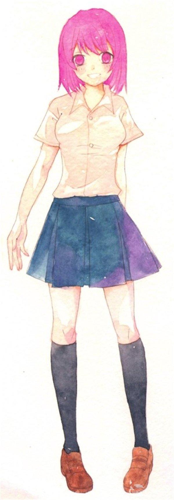 水彩人物衣服的绘画步骤五