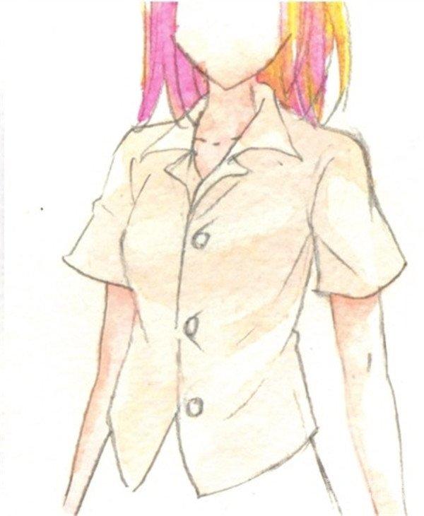 水彩:人物服装的褶皱的画法(4)
