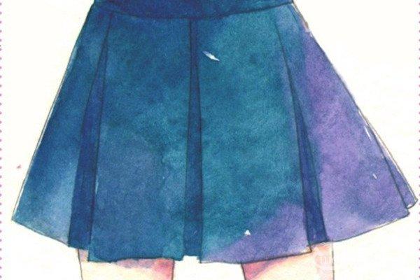 水彩:人物服装的褶皱的画法