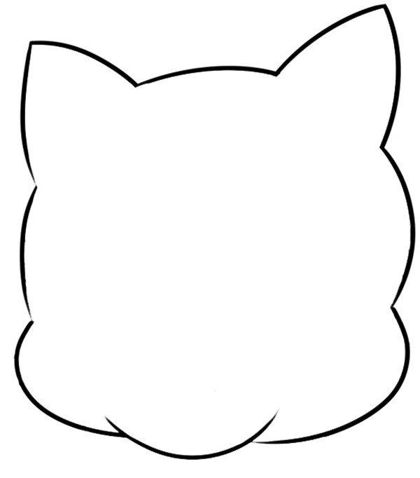 趣味 简笔画:淘气的老虎 绘画步骤    1. 先画头