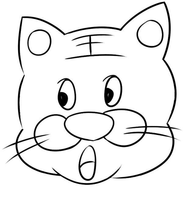 趣味简笔画:淘气的老虎绘画步骤(2)