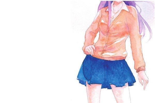 水彩服装的款式和质感绘画技巧