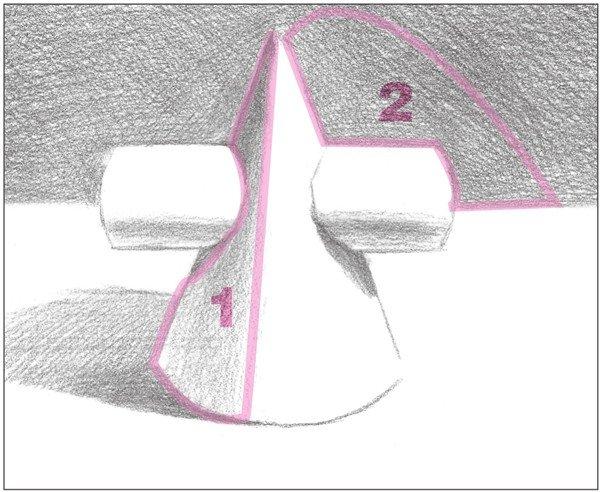 素描圆柱圆锥贯穿体绘画步骤7