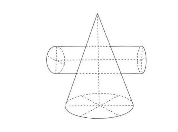 素描 圆柱圆锥贯穿体绘画技巧