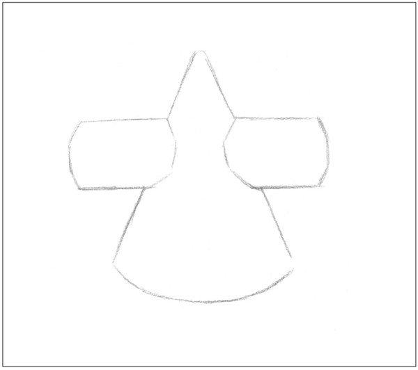 素描圆柱圆锥贯穿体绘画步骤1