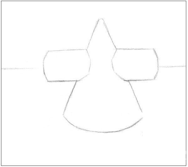 素描圆柱圆锥贯穿体绘画步骤2
