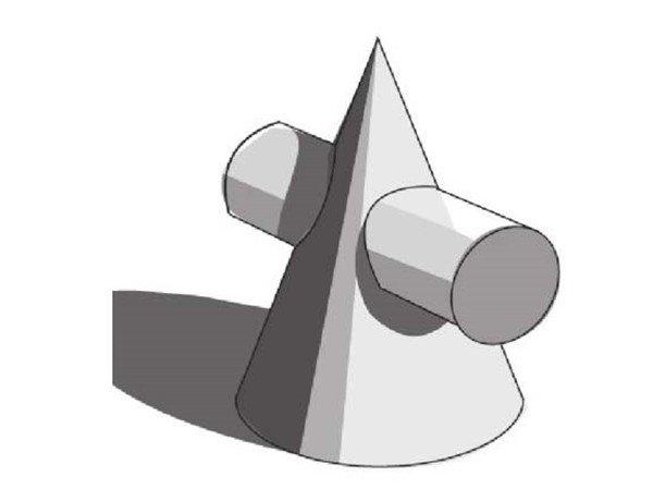 素描:圆柱圆锥贯穿体绘画技巧(6)