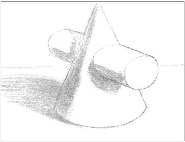 素描 圆柱圆锥贯穿体绘画技巧 7