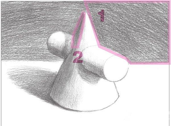 素描:圆柱圆锥贯穿体绘画技巧(9)