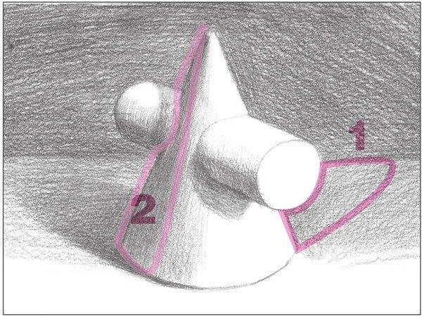 素描圆柱圆锥贯穿体绘画步骤9